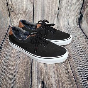 Van's Black Chukka Low w brown leather size 9.5